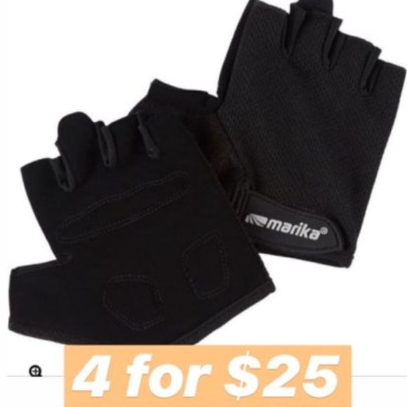 Marika Accessories - 4 for $25 Marika Mesh Weight Lifting Gloves Velcro